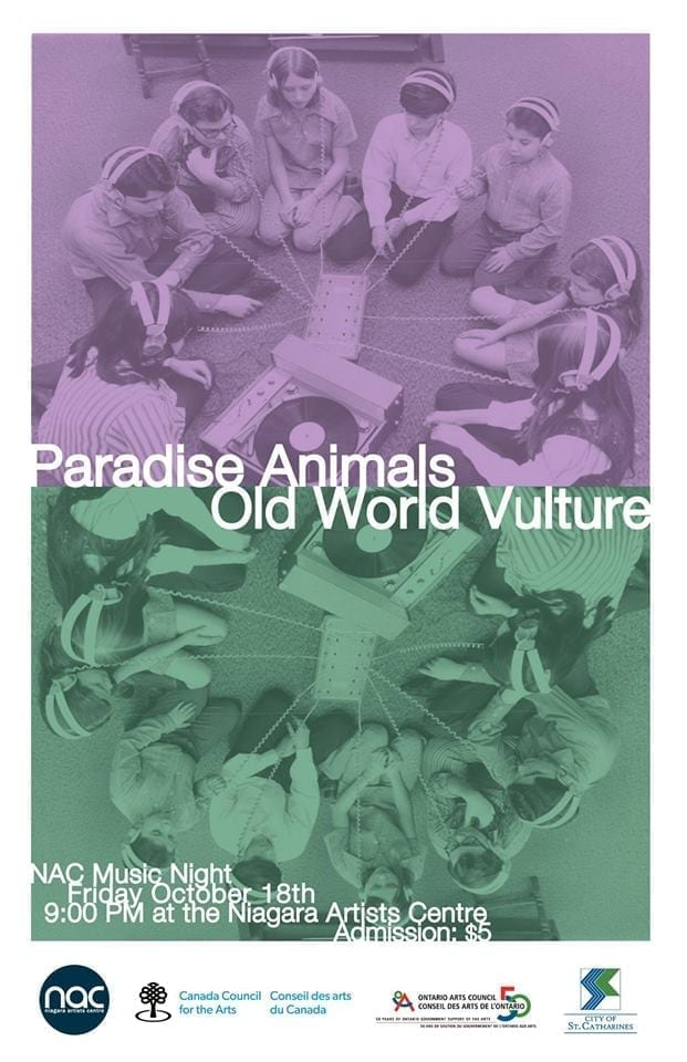 NAC Music Night: Old World Vulture and Paradise Animals
