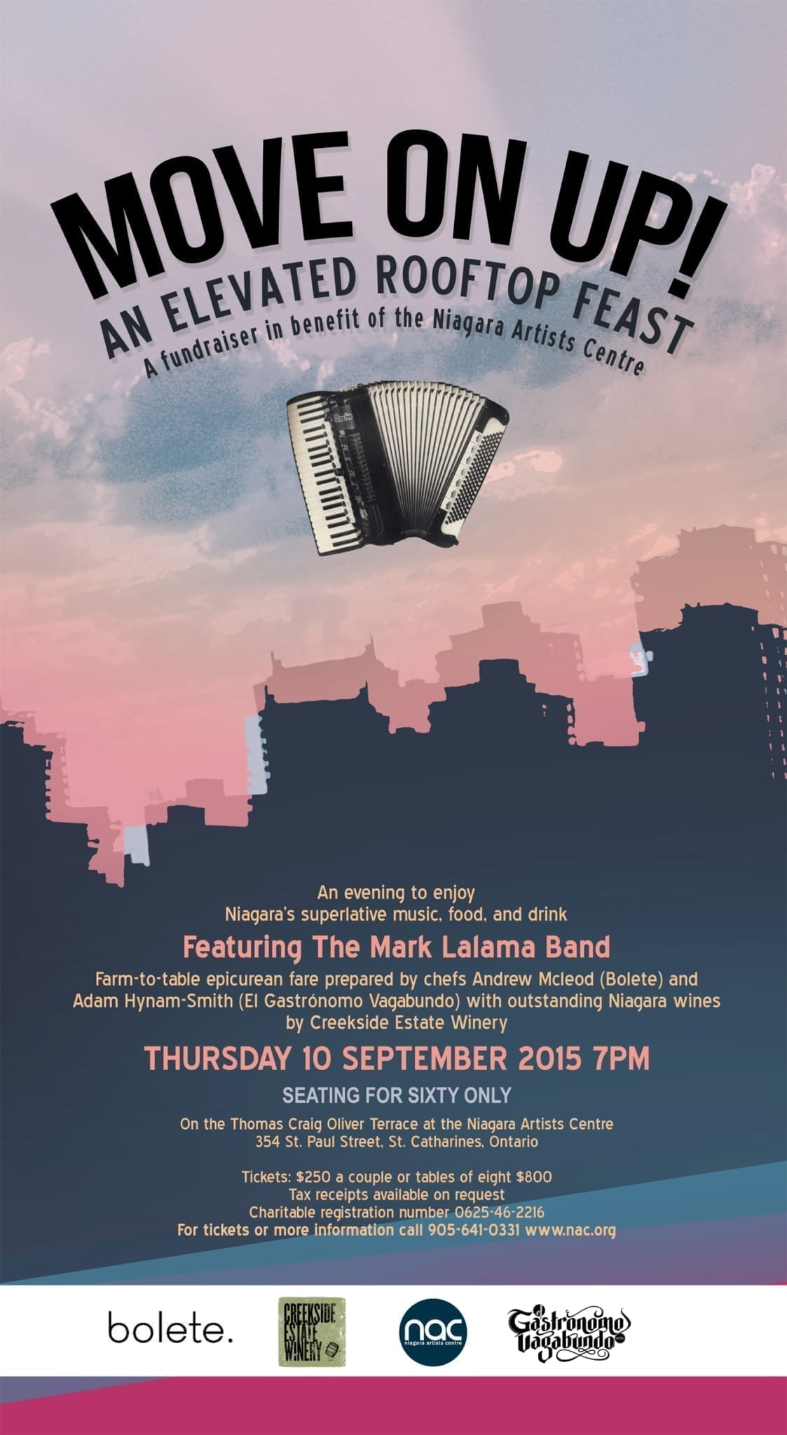 MOVE ON UP! A Fundraiser in Benefit of NAC : Thursday 10 September 2015