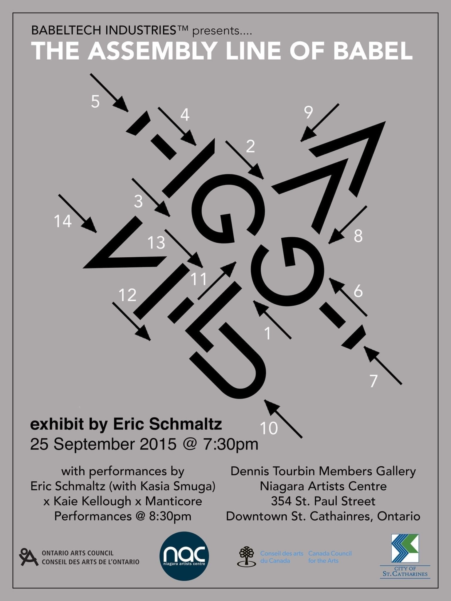 BABELTECH INDUSTRIES™ presents… THE ASSEMBLY LINE OF BABEL, an exhibit by Eric Schmaltz  srcset=