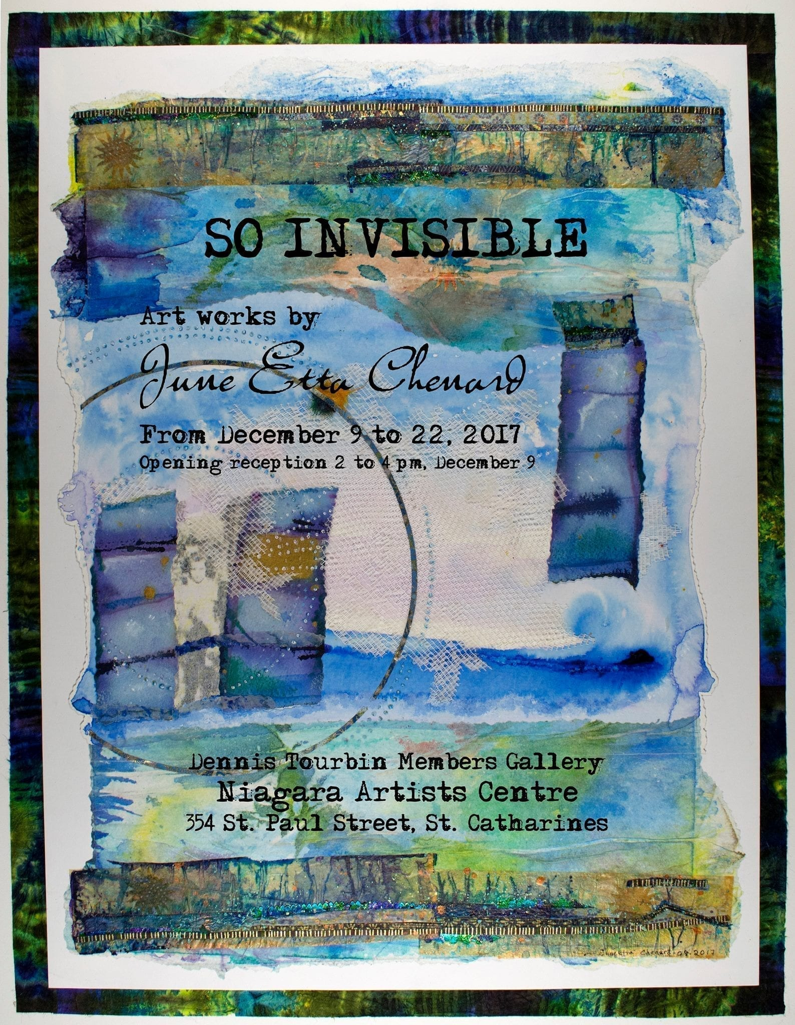 So Invisible by June-Etta Chenard Sat 9 Dec 2017