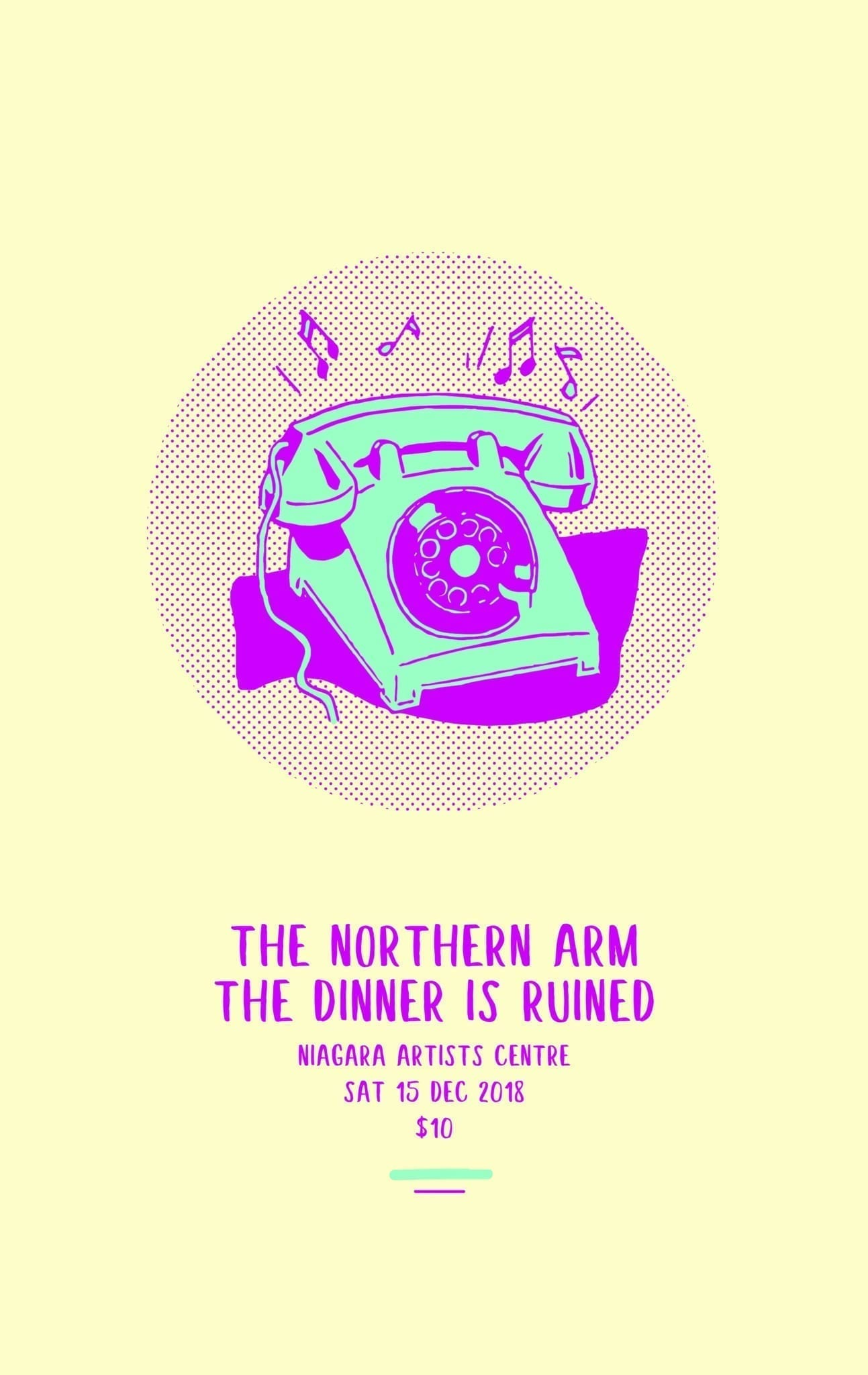 The Northern Arm + The Dinner is Ruined / Sat 15 Dec 2018 8PM